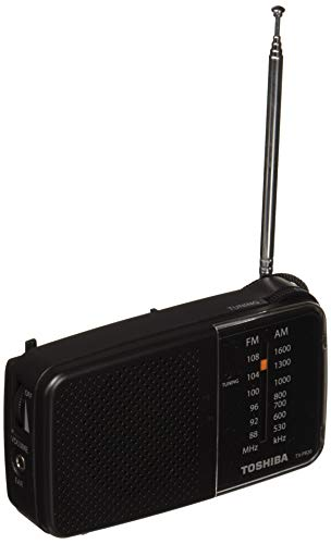 Toshiba Portable Pocket Radio with AM/FM((TX-PR20 Black)