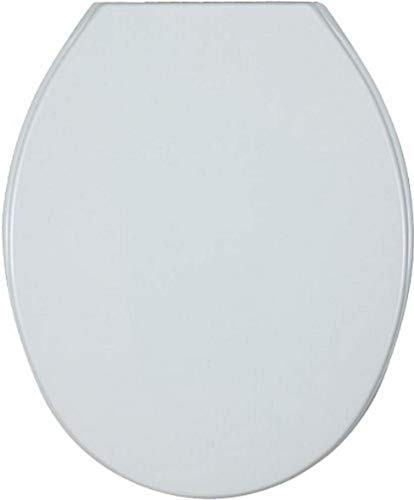 WENKO WC-Sitz Aurora - Toilettensitz, variable Kunststoffbefestigung, Thermoplast, 36.2 x 45 cm, Weiß