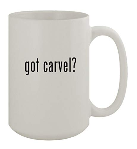 got carvel? - 15oz Ceramic White Coffee Mug, White