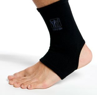1 Nikken Medium Ankle Sleeve 1821 - Black, Thin Elastic Support, Men Women Kids, Far Infrared, Compression, Brace, Sprained Swelling Injury Pain Relief & Recovery, Running Basketball Volleyball