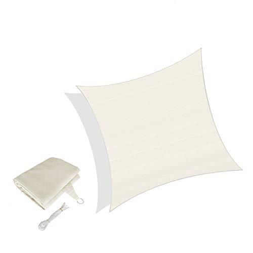 Sunnylaxx Vela de Sombra Cuadrado 2.5 x 2.5 Metros, toldo Resistente y Transpirable, para Exteriores, jardín, Color Crema