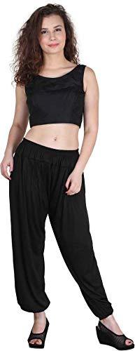 LATA'S Women's Viscose Regular Fit Harem Pant (Black, Free Size)