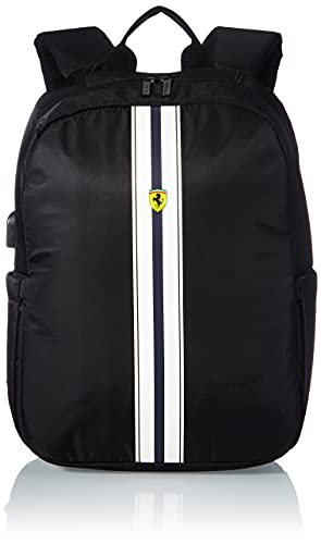 """Ferrari 15"""" Backpack with USB COONECTOR for Powerbank Computer Bag Black"""