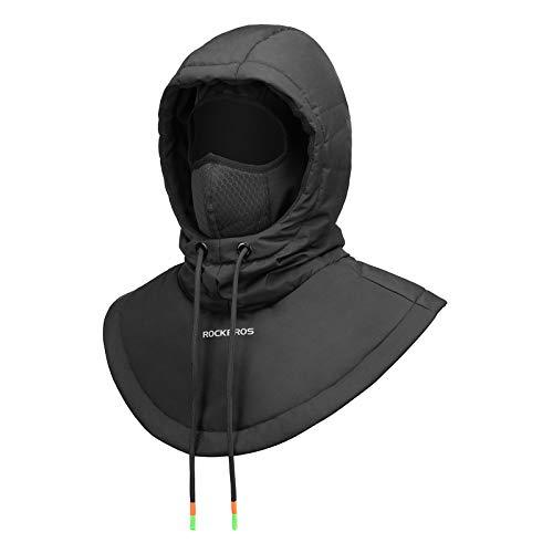 ROCKBROS Balaclava Ski Mask Cold Weather Windproof Winter Mask for Men Women Cycling Running Hiking Black