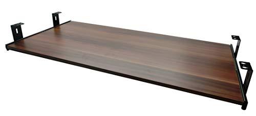 FIX&EASY Tastaturauszug mit Tastaurablage 800X300mm Zwetschge Dekor, Auszugschienen schwarz 300mm, Set Ablage mit Auszug für Tastatur Maus Keyboard Laptop