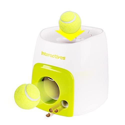 Pet hund leksak, hundmatare tennisboll belöning maskin för hundar, kasta maskin lansering hämtar bollar hund träningsverktyg