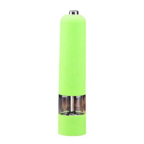 Molinillo de pimienta eléctrico portátil Cocina Plástico Acrílico Perfume Fragancia Condimentos Herramienta abrasiva - R_ Molinillo de sal verde Molinillo de pimienta Molinillo de sal Molinillo rosa