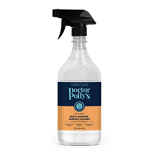 Pickle & Polly Professional Strength Pet Stain and Odor Remover for Dog and Cat Urine, Multi-Surface Cleaner for Pets, Furniture, and Homes (32oz)