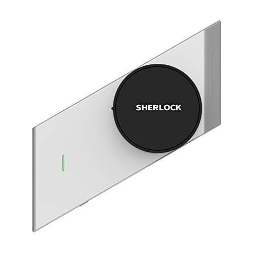 XINTONGLO Smat Silver/Black Sherlock S2 Smart Stick-Klock Cerradura electrónica de Puerta Bluetooth inalámbrico Activado o desactivado Control Inteligente de Aplicaciones