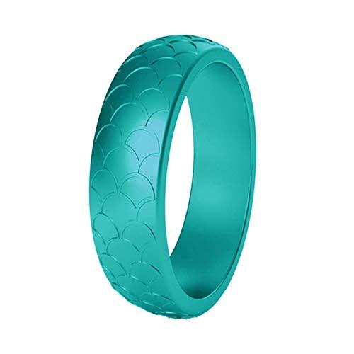 Ruby569y Anillo de silicona para cumpleaños, boda, aniversario, compromiso, accesorio de fiesta de moda, regalo para mujeres, hombres, parejas, marzo, color aguamarina
