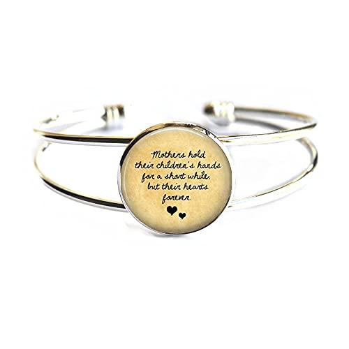Pulsera para madre con frase en inglés 'Mother have her ren', regalo para el día de la madre, PU086