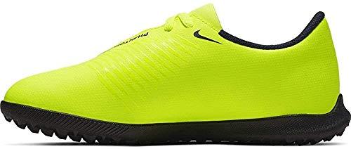 Nike Unisex-Kinder Jr. Phantom Venom Club Tf Fußballschuhe, Grün (Volt/Obsidian/Volt 717), 35 EU