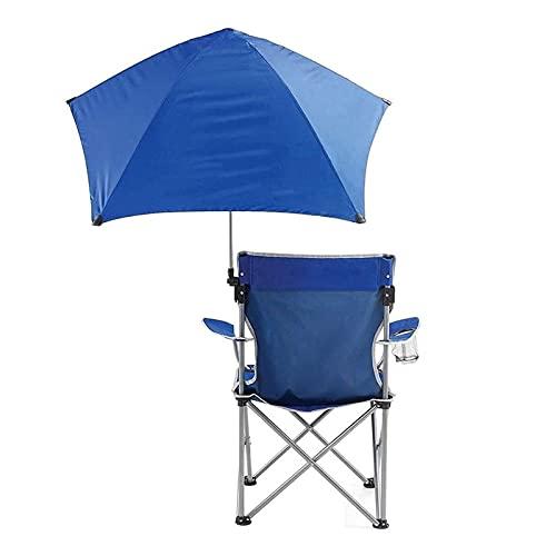 Pesca al aire libre plegable Silla Con Parasol Canopy Paraguas Y sostenedor de taza de Oxford asiento de tela impermeable cómodo duradero for el verano excursión de acampada de la playa Jardín silla d