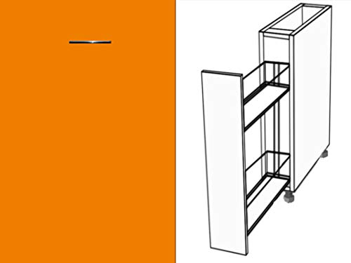 Premium-Ambiente AAAAA198 Unterschrank Apothekerschrank Vollauszug Softclosing FE (Breite 30cm, 60 Orange)