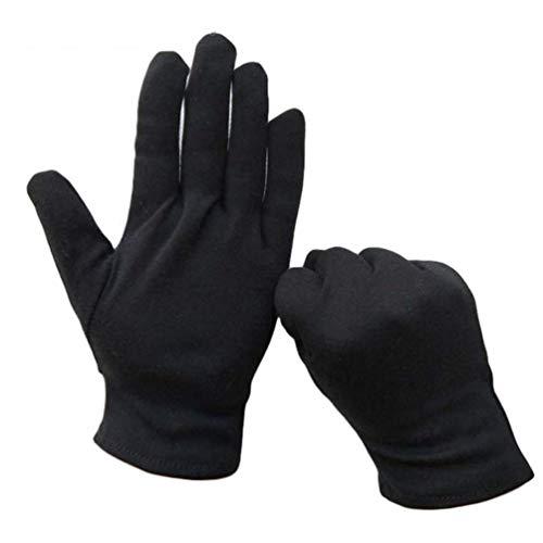 Uonlytech 12 Pcs Gants de Coton Hydratants Bijoux Gants Touchants Gants de Conduite de Voiture Étiquette Gants de Coton pour Le Travail à Domicile L