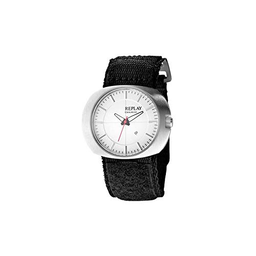 Replay Damen Analog Quarz Uhr mit Textil Armband RW5203AH_Blanco