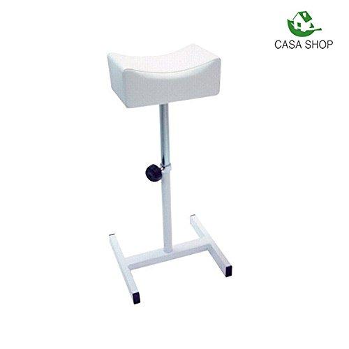 Maxi Products CS ® Taburete de pedicura Silla con reposapiés para esteticista Soporte para pedicura profesional (Blanco)