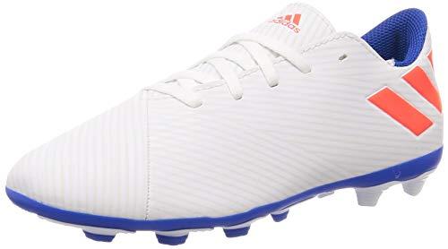 Adidas Nemeziz Messi 19.4 FxG J, Botas de fútbol Niño, Blanc Rouge Solaire Bleu Marine, 30 EU