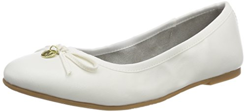 s.Oliver Damen 22106 Geschlossene Ballerinas, weiß (white), 38 EU