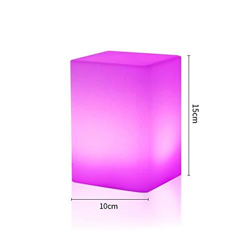 LED Light Cube Lampe RGBW LED Tischleuchte Schreibtischlampe am Bett Nachtlicht drahtlose wiederaufladbare Lithium-Batterie Schlafzimmer 16 Farben ändern und 4 Stufe Dimming Kühle Stimmung Lampe,