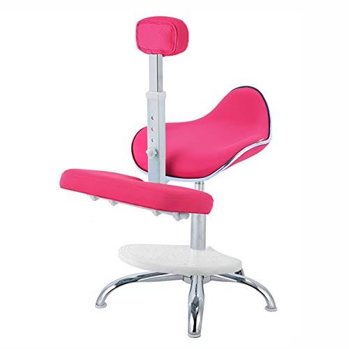 Ergonómico Taburete Arrodillado, Comodidad Tela Suave Ajustable Niño Aprendizaje Silla Arrodillada Corrección de Postura Taburete Arrodillado (Color : Pink, Size : C)
