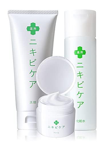 ニキビ 洗顔 + 化粧水 + クリーム ニキビ や ニキビ跡 予防 のための スキンケア セット 薬用 ニキビケア 大人 メンズ 思春期 も 使用可能 敏感肌 や 乾燥肌 にも 医薬部外品 100g & 120g & 50g