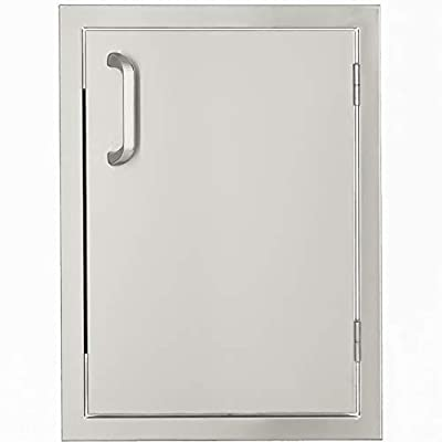 BBQGUYS Signature Series 17-Inch Stainless Steel Right-Hinged Single Access Door - Vertical