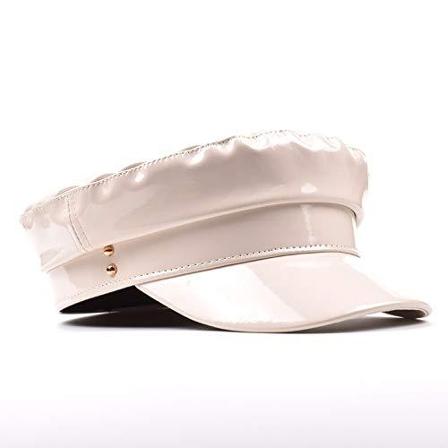 YTYASO Mode Militärhüte DamenhüteEinfarbig Flacher ZylinderKapitän Frauen Winter