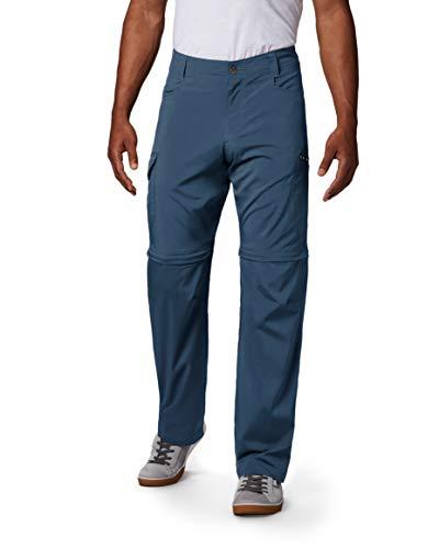Columbia Silver Ridge - Pantalón Convertible elástico para Hombre, Hombre, 166349, Gris socuro, 40W / 28L