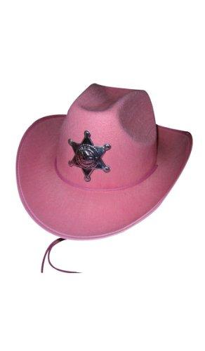 Party Pro 84300492 Chapeau de cowboy Sheriff Luxe Rose