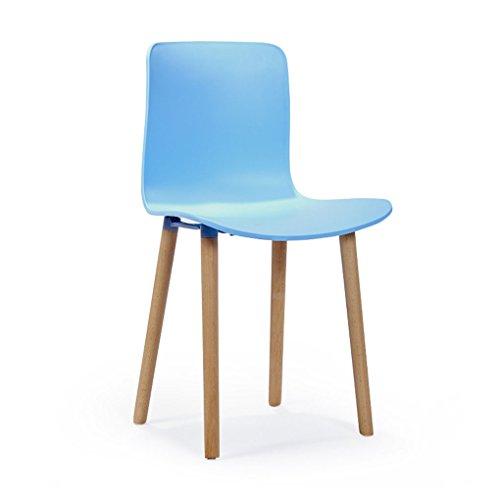 HJHY Nordic moderno minimalista per il tempo libero schienale sedia da pranzo famiglia negoziare moda adulto sedia di plastica 40 × 38 × 83 cm corretta posizione di seduta ( Colore : Blu )