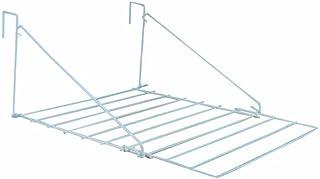 JVL Clothes Utility - Tendedero plegable para puerta, color blanco