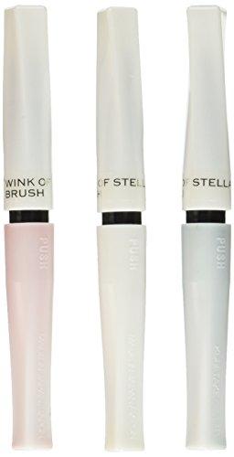 Zig Memory System Wink of Stella Brush Glitter Marker, Weiß Weihnachten, weiß, rot, dunkelgrün, 3er Pack,