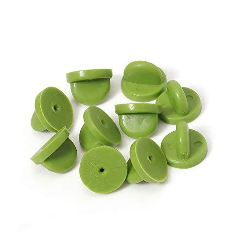 HONGTAI 50pcs Goma Pin Backs Broche del Botón De Bukle Cap Cuidado De Cierre del Embrague De Uñas Autoamarre Tapones Squeeze Badge Accesorios Titular De La Joyería (Color : Green, Size : 50pcs)