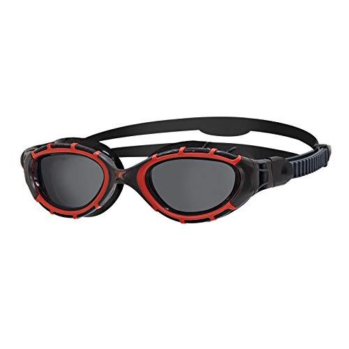 Zoggs Predator Flex Polarized Goggles L red/Black/Smoke Polarized 2020 Schwimmbrille