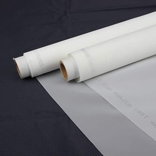 F Fityle Malla de Tela de Impresión de Pantalla Serigrafía Blanco 30/40/60/80/100/120T - 100t