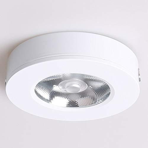 miwaimao Lámpara de techo LED de 5 W, color verde, rosa y azul, ultrafina, de aluminio, color blanco 5 W neutro.