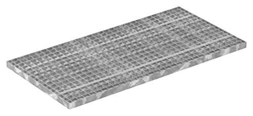 Fenau | Gitterrost/Industrie-Rost/Garagen-Rost, Maße: 500 x 1000 x 30 mm, MW: 30/30 mm, Materialstärke: 2 mm - Radlast: 3,96 kN/Flächenlast (m²): 41,48 kN, feuerverzinkt, Pressrost, Stab-in-Stab