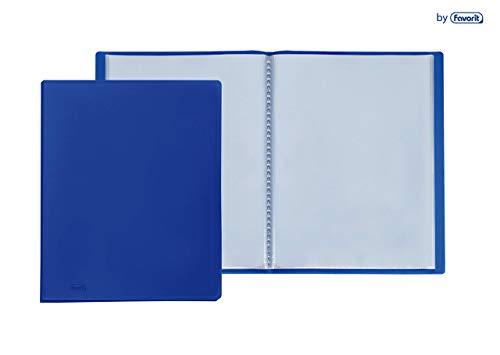Favorit 100460245 - Portalistino, Formato Interno 22 x 30 cm, 10 Buste, Blu