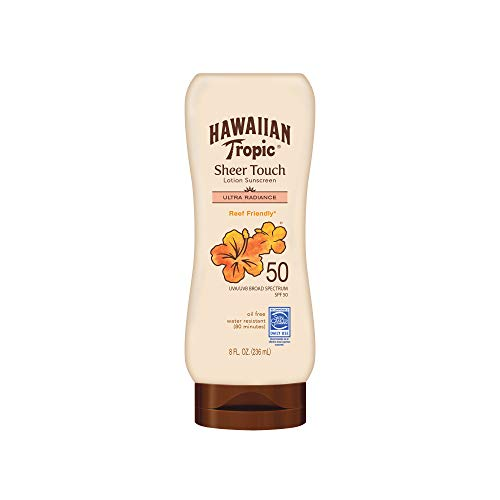 Hawaiian Tropic Sunscreen Sheer Touch Broad Spectrum Sun Care Sunscreen Lotion - SPF 50, 8 Ounce (Pack of 2)