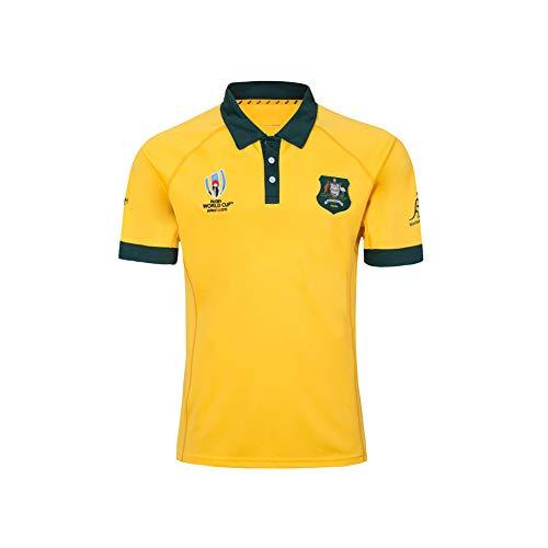 Rugby Trikot Fußball Trikot 2020 World Cup Australien Home and Away Spieler Fußball Uniform Jersey Mesh T-Shirt Poloshirt atmungsaktiv Mesh Sport Jersey S-3XL Gr. XL (180/185 cm), C