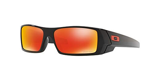 Oakley GASCAN OO9014 Sunglasses For Men + Accessories Bundle (Polished Black/Prizm Ruby (901444), 60)