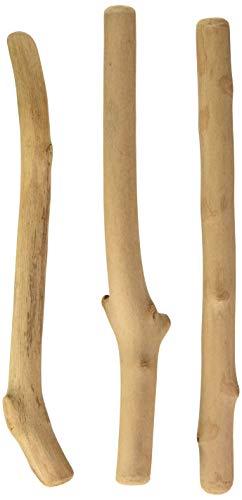*Artemio 35cm 3Stäbchen Treibholz, braun*
