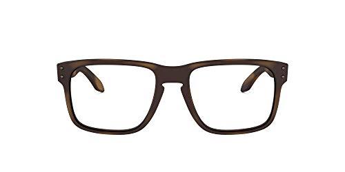 Oakley OX8156 Holbrook RX - anteojos de sol para hombre (cuadradas, sin polarizar, lentes de 56 mm), color café mate