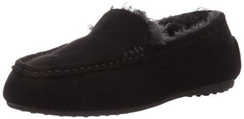 [オリエンタルトラフィック] Amazon限定カラー フラット モカシン レディース ファー ムートン 雪 冬 暖かい スリッポン 靴 シューズ パンプス ボア 大きいサイズ 小さいサイズ 8717/9707 BLACK(19AW) 26 cm E