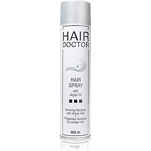 HAIR DOCTOR Hair Spray Strong Professionelles Haarspray, pflegend mit Argan Öl 600ml