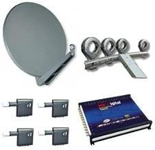 Gibertini se 100cm alu Sat antena + Gibertini 4compartimento Feed plana + 4x Inverto Multi de OPP Quattro LNB + MK Digital MS 17–24–Conmutador múltiple