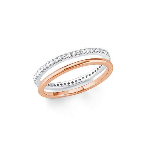 s.Oliver Ring für Damen 925er Sterling Silber teilvergoldet