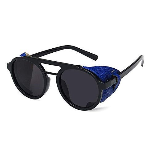 chuanglanja Gafas De Sol Vintage Gafas De Sol Vintage De Gran Tamaño Hombres Mujeres Steampunk Señoras Gafas De Sol-Azul