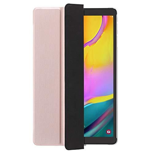 Hama Hülle für Samsung Galaxy Tab A7 10,4 Zoll von 2020 (aufklappbares Tablet-Hülle, Schutz-Hülle mit Standfunktion, durchsichtige Rückseite, magnetisches Cover mit Auto Wake/Sleep) rosegold